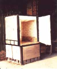 Mani-kiln before firing