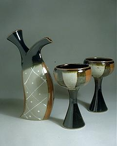 wine decanter & wine goblets